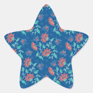 Aiyana Floral Batik Star Sticker
