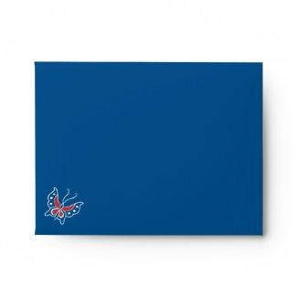 Aiyana Floral Batik Stripes A2 Note Card Envelope
