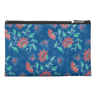 Aiyana Floral Batik Travel Accessory Bag