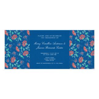 Aiyana Floral Batik Wedding Engagement Invite 1