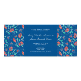 Aiyana Floral Batik Wedding Engagement Invite 2