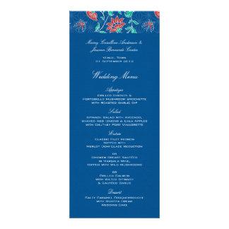 Aiyana Floral Batik Wedding Menu 3 Personalized Invitation