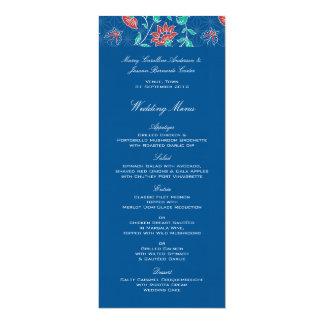 Aiyana Floral Batik Wedding Menu Card