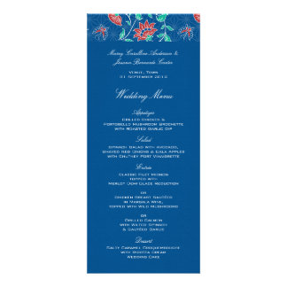 Aiyana Floral Batik Wedding Menu Invites