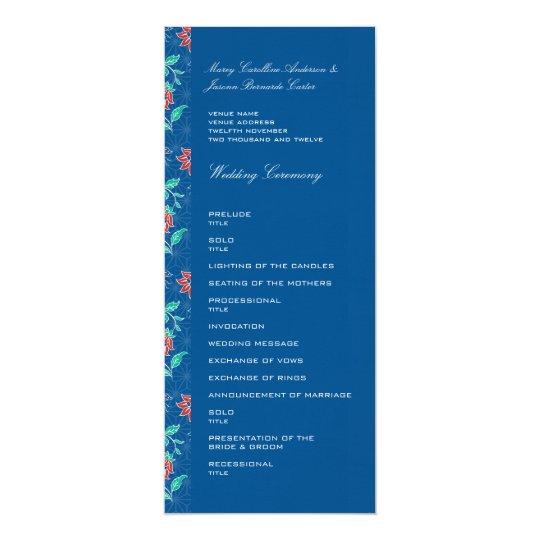Aiyana Floral Batik Wedding Program 2