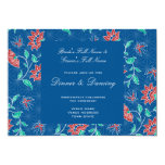 Aiyana Floral Batik Wedding Reception Invitation