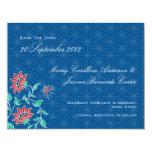 Aiyana Floral Batik Wedding Save The Date Card 3