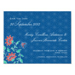 Aiyana Floral Batik Wedding Save The Date Card 3 Personalized Announcements