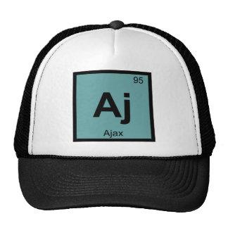 Aj - Ajax Greek Chemistry Periodic Table Symbol Trucker Hat