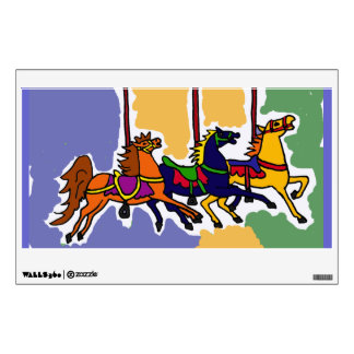 AJ- Carousel Horse Folk Art Wall Decal