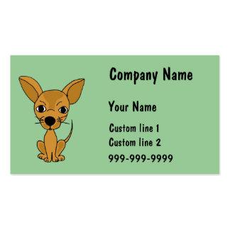 AJ- Cute Chihuahua Business Cards