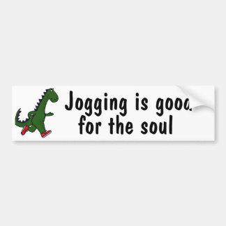 AJ-Dinosaur Jogging is good Bumper Sticker