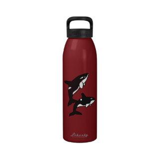 AJ- Killer Whales Water Bottle