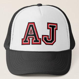 'AJ' Monogram Trucker Hat