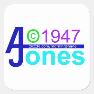 AJ zazzle Square Sticker