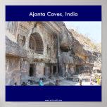 Ajanta Caves, India, Print