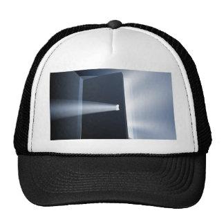 Ajar door light beam concept mesh hat