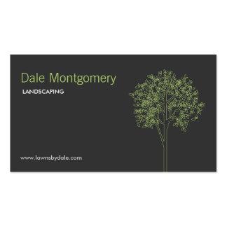Ajardinando, cuidado del césped, árboles, jardiner tarjetas de visita