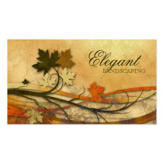 Ajardinar el vintage de las hojas de arce del tarjetas de visita