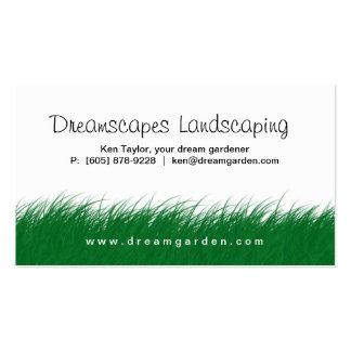 Ajardinar la tarjeta de visita de la hierba