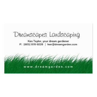 Ajardinar la tarjeta de visita de la hierba salvaj