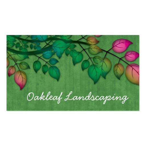 Ajardinar las hojas del árbol de la primavera de l tarjetas personales