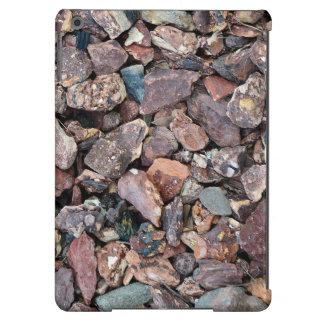 Ajardinar los escombros y las piedras de la roca funda para iPad air