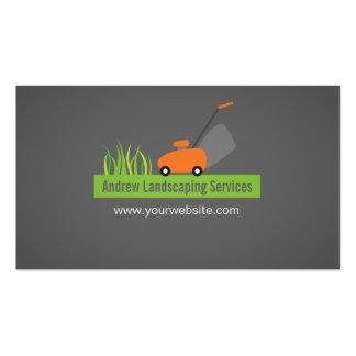 Ajardinar servicios, cortacésped tarjetas de visita