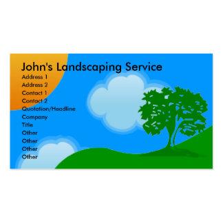 Ajardinar tarjetas de visita de servicios