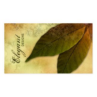 Ajardinar verde del negocio deja el damasco del tarjetas de visita