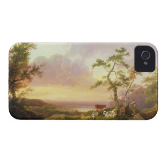 Ajardine con el ganado y el campesino, c.1781 iPhone 4 cobertura