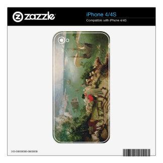Ajardine con la caída de Ícaro, c.1555 Calcomanías Para iPhone 4S