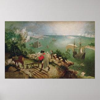 Ajardine con la caída de Ícaro, c.1555 Poster