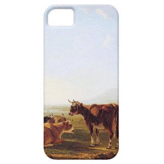Ajardine con las vacas de reclinación de Jacob van iPhone 5 Fundas