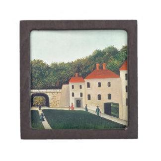 Ajardine con un arco y tres Houses, 1907 (aceite Cajas De Regalo De Calidad