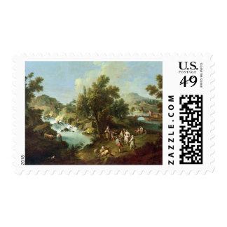 Ajardine con un río y los campesinos del baile ac