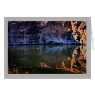 Ajardine el pato soleado del blanco del río de 49 tarjeta de felicitación