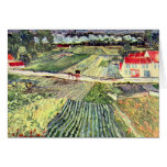 Ajardine en Auvers en la lluvia de Van Gogh Tarjeta Pequeña
