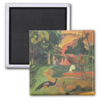 Ajardine los pavos reales de w por Gauguin bella Imanes De Nevera