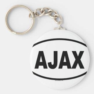 AJAX BASIC ROUND BUTTON KEYCHAIN