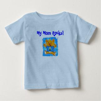 """Ajay's """"My Mom Rocks!"""" Baby T-Shirt"""