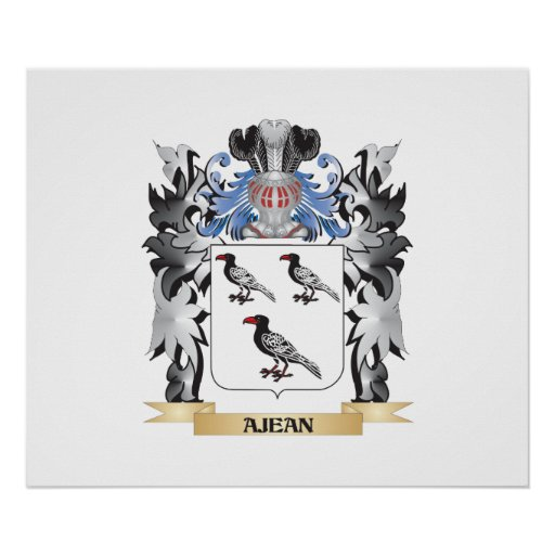 Ajean Coat of Arms - Family Crest Poster