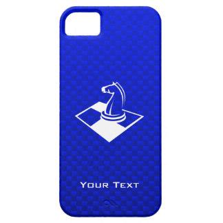 Ajedrez azul iPhone 5 cárcasas