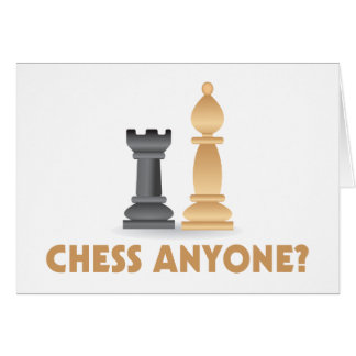 Ajedrez cualquier persona pedazos de ajedrez tarjeta