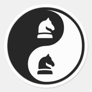 Ajedrez de Yin Yang Etiqueta