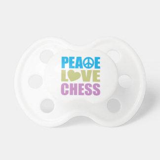 Ajedrez del amor de la paz chupetes