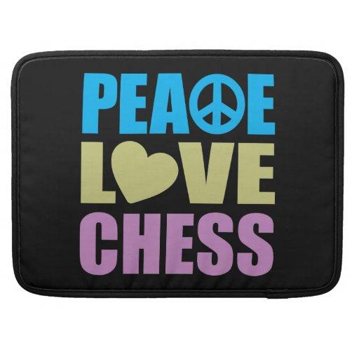 Ajedrez del amor de la paz fundas para macbook pro