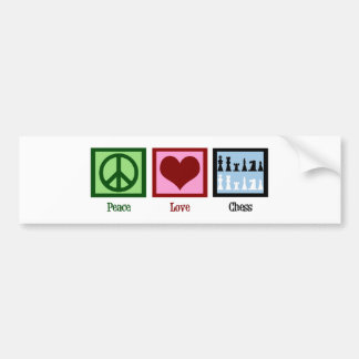 Ajedrez del amor de la paz pegatina para auto