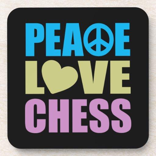 Ajedrez del amor de la paz posavaso