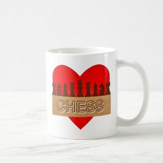 Ajedrez del amor taza de café